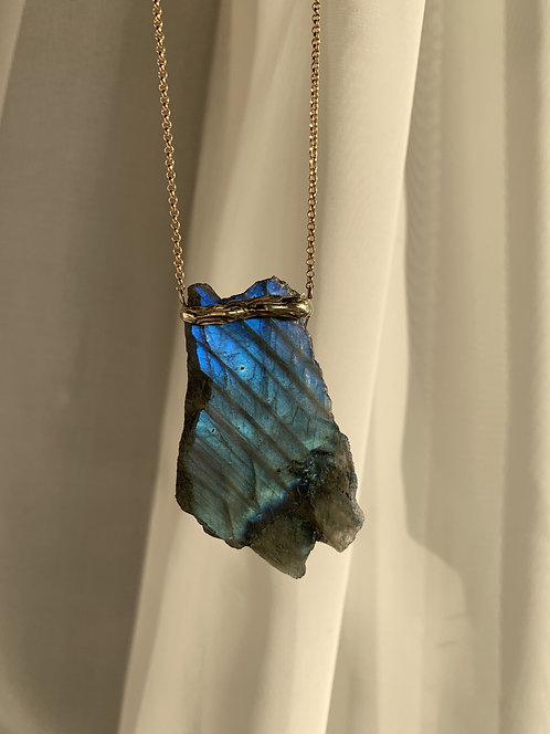 Porous Earth Labradorite Necklace