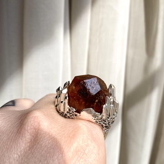 Custom Spessartine Garnet Design by Courtney Bensik