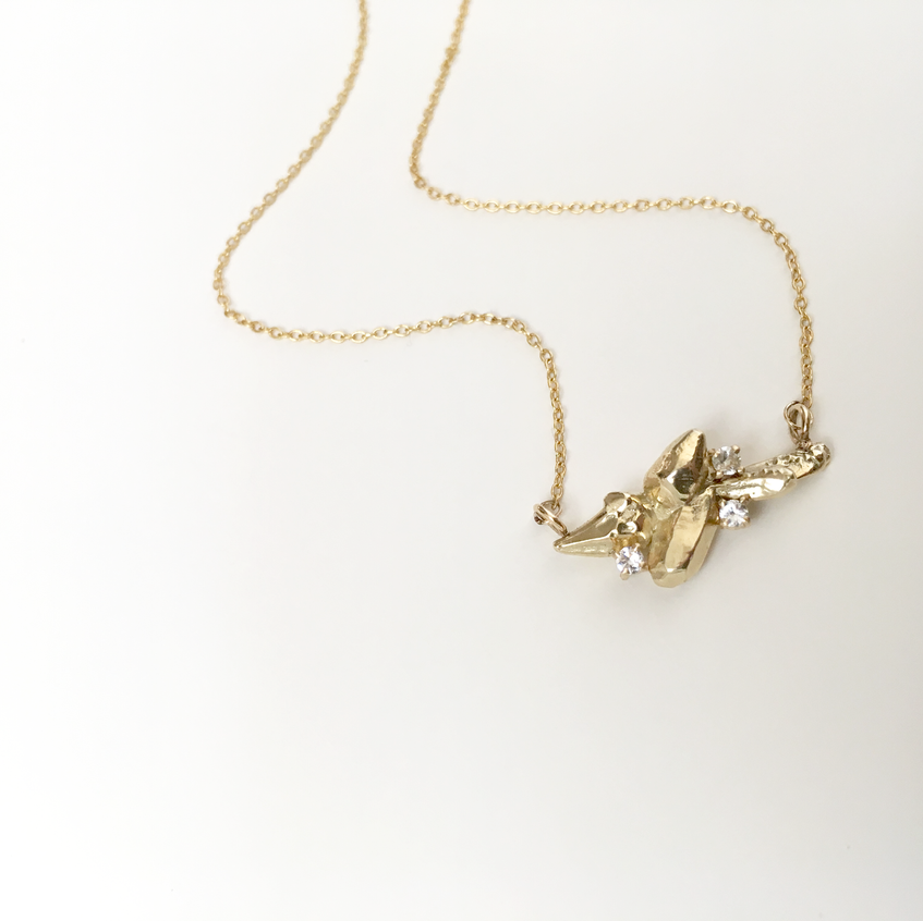 zincite star cluster necklace