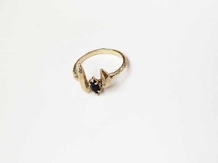 Zincite Onyx Cuff Ring