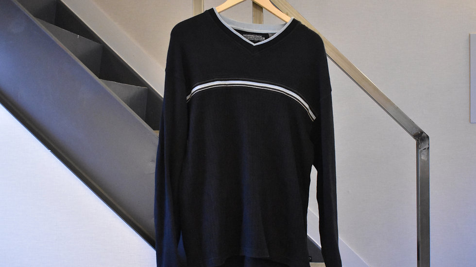 black cotton knit