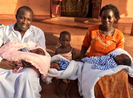 First Triplets Born Into Grace Center Midwives' Capable Hands!