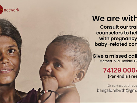 Bangalore Birth Network's Innovative Pan-India Helpline to Assist Mother & Baby During Covid-19!
