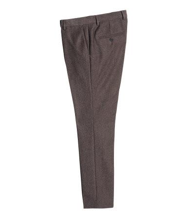 H&M Dark Plum Slim Fit Suit Pants $39.99