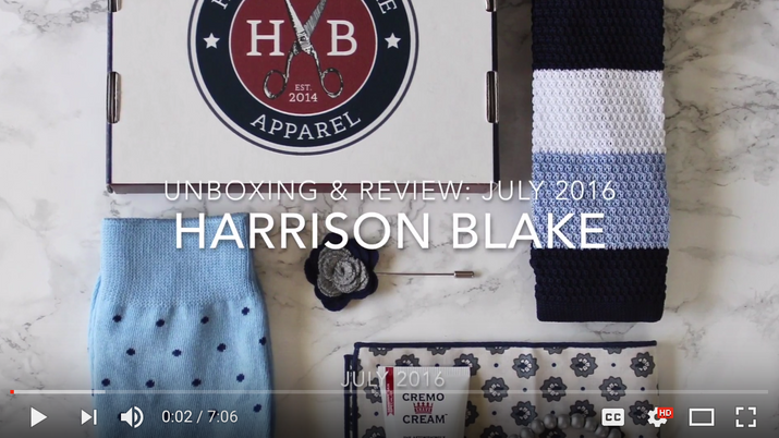 Harrison Blake Apparel Box Unboxing & Review July 2016
