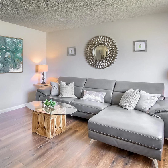 trendy livingroom