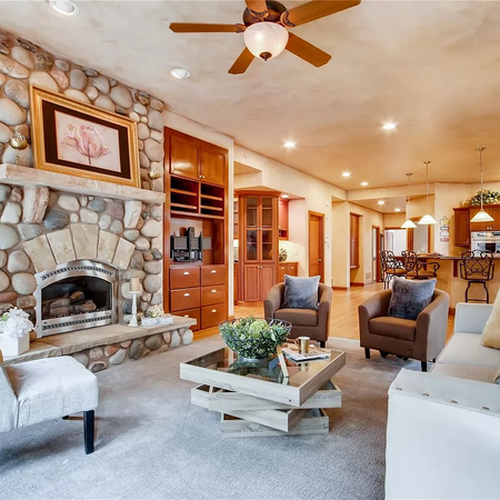 staged mountain home