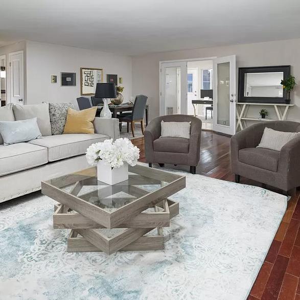 staged livingroom in denver