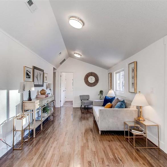 staged living room in denver