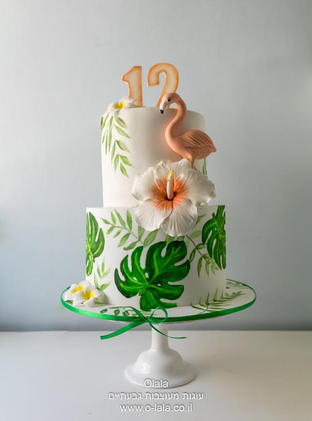 עוגת בת מצווה פלמינגו