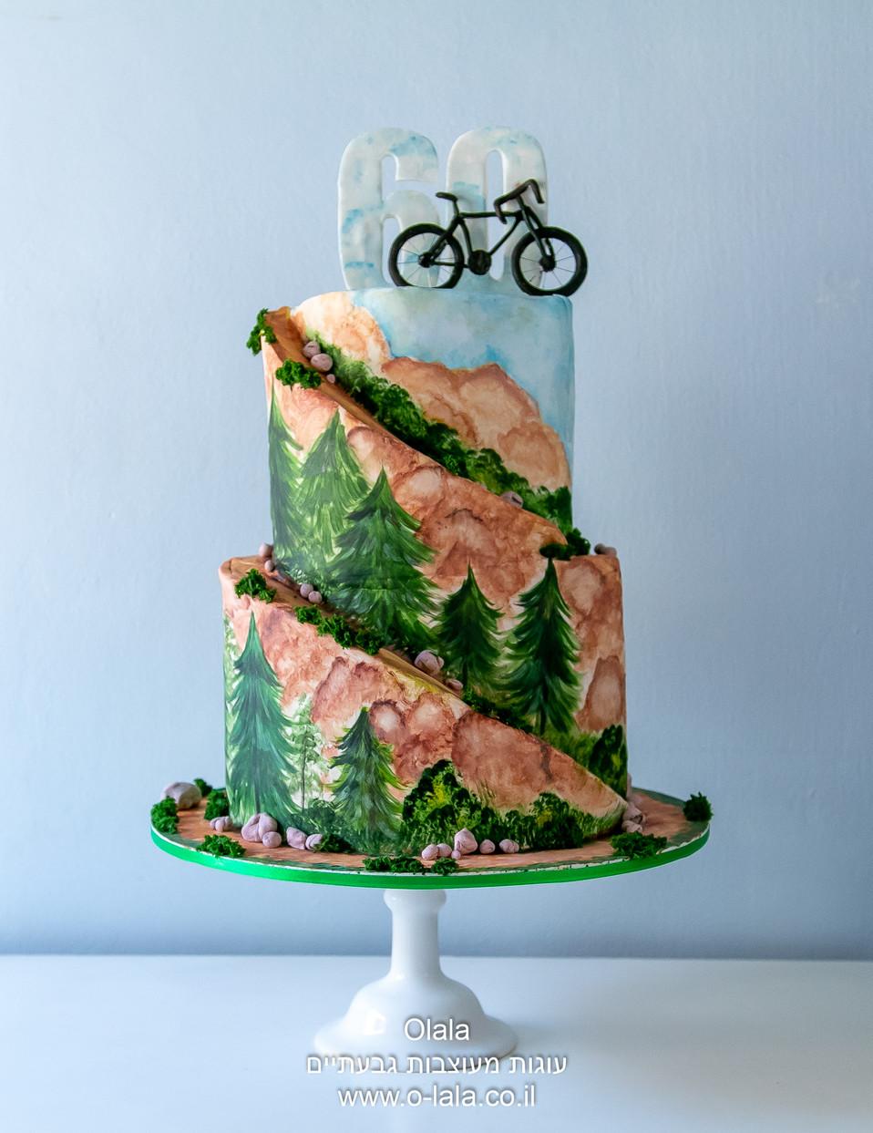 עוגה עם אופניים