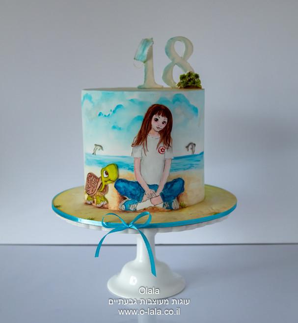 עוגת יום הולדת לבת 18