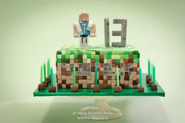 עוגת בר מצווה minecraft