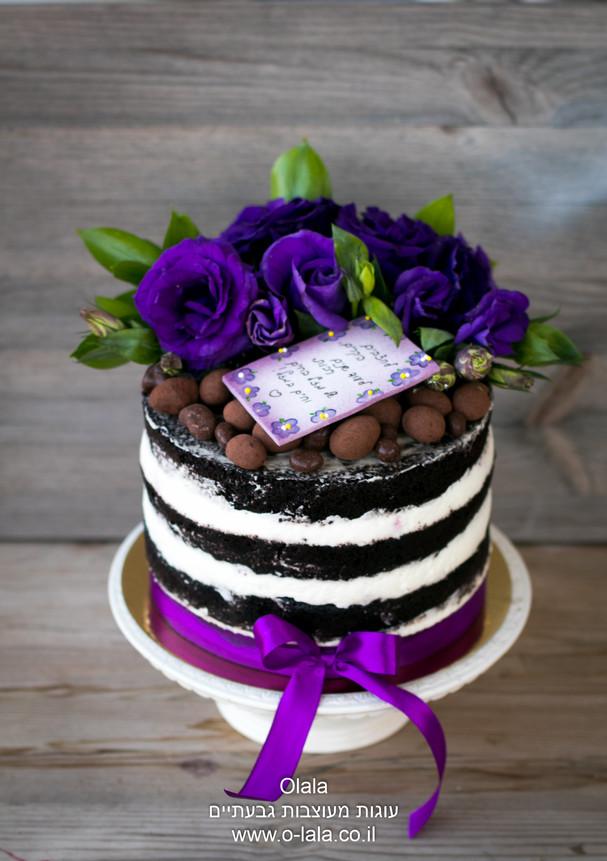 עוגת פרחים טריים