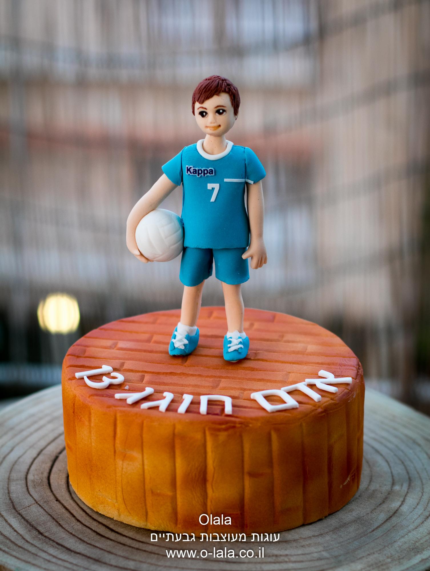 שחקן כדורעף טופר לעוגה