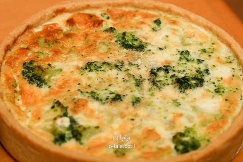 קיש ברוקולי עם גבינת פטה