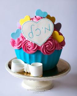 עוגת קייק סמאש עם לבבות