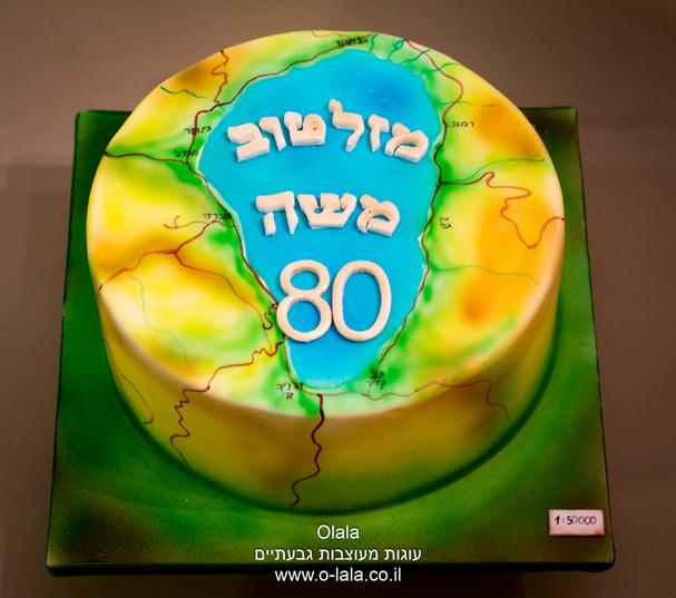 עוגת מפת ישראל