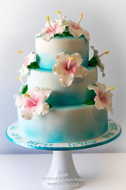 עוגת היביסקוסים