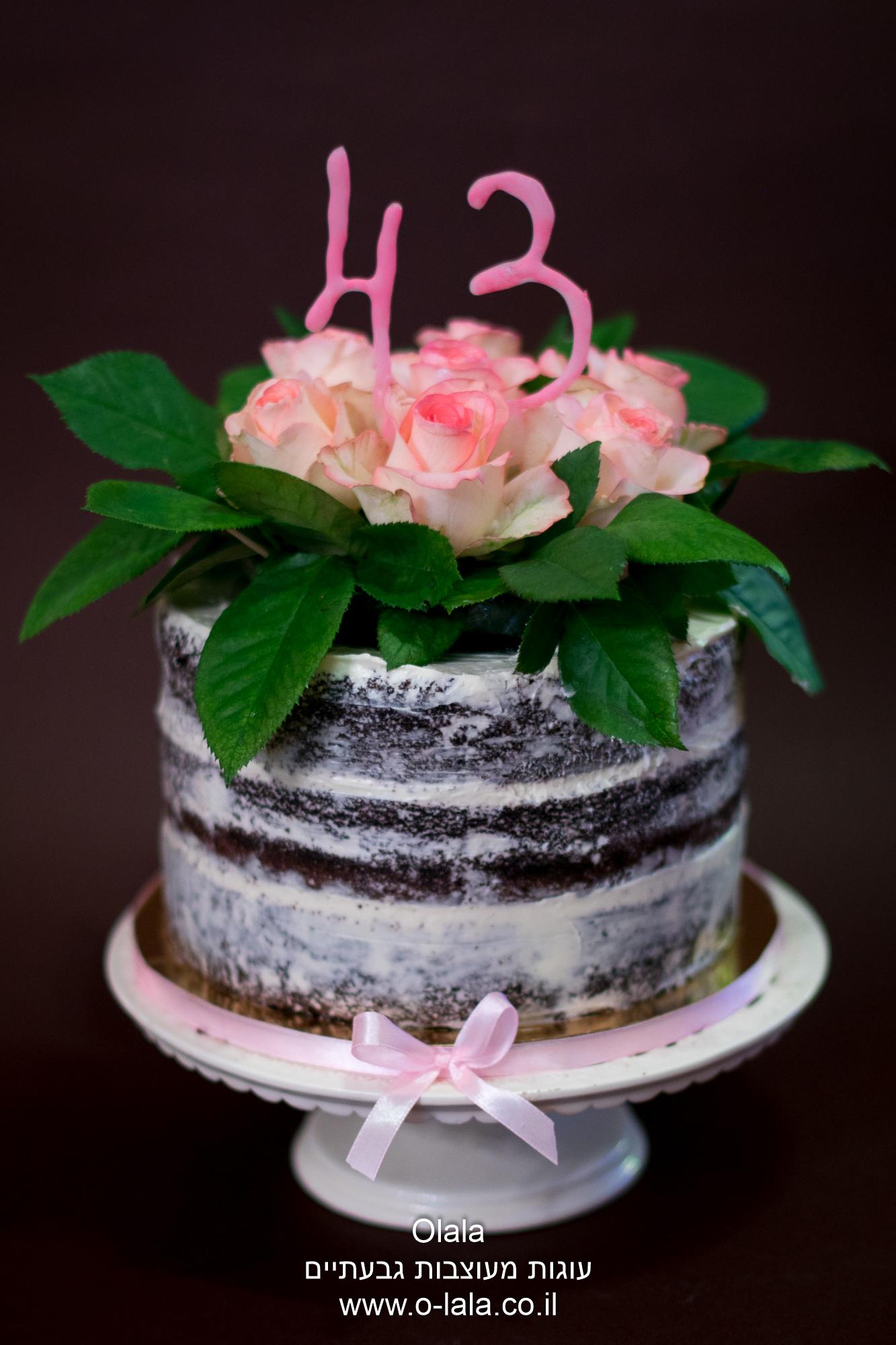 עוגת ורדים טריים