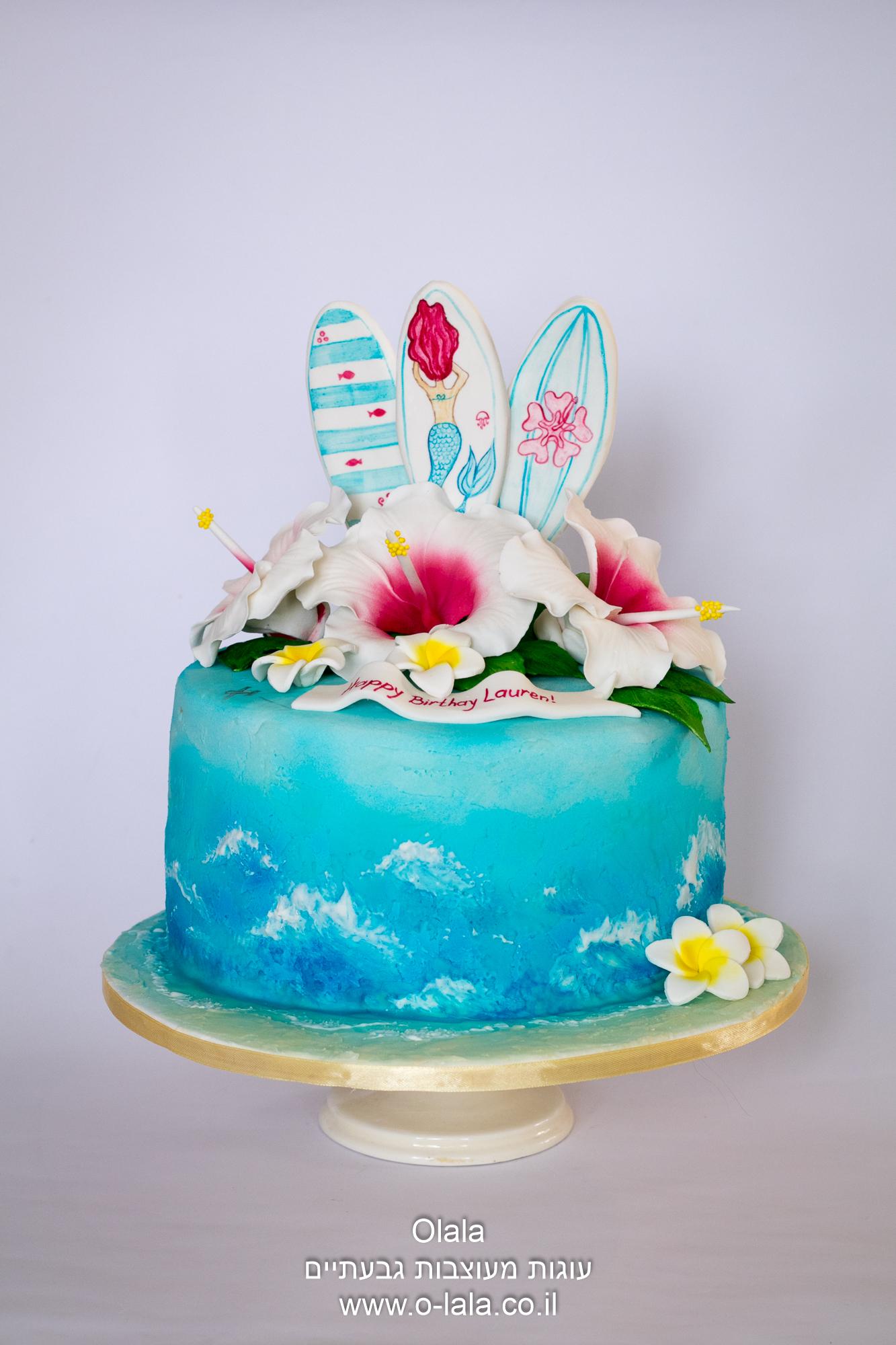 עוגה עם גלשנים