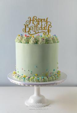 עוגת יום הולדת קלאסית