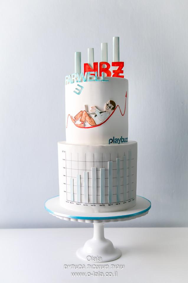 עוגה לגבר למסיבת פרידה