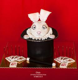 עוגת שפן בכובע הקוסם