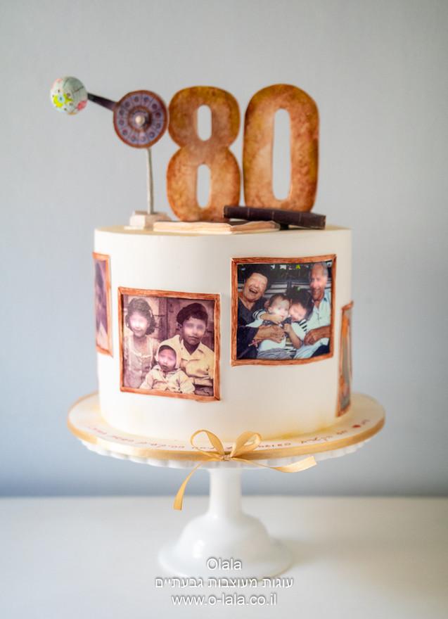עוגה ליום הולדת 80