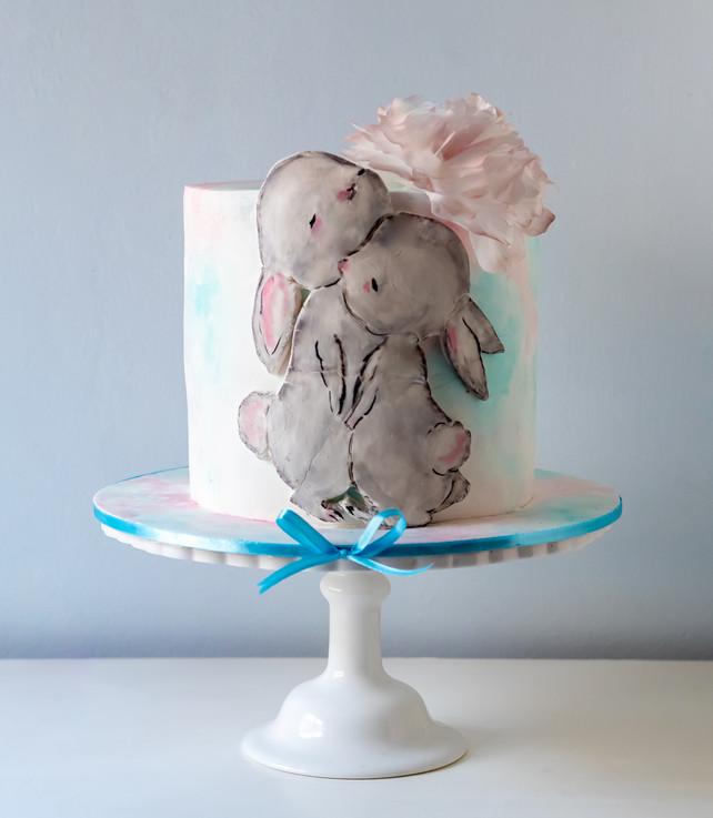 העוגה שהוכנה בסדנה על ידי ילנה פנפרוב