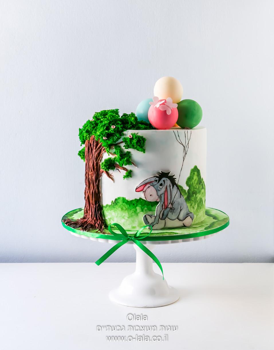 עוגת יום הולדת מצויירת