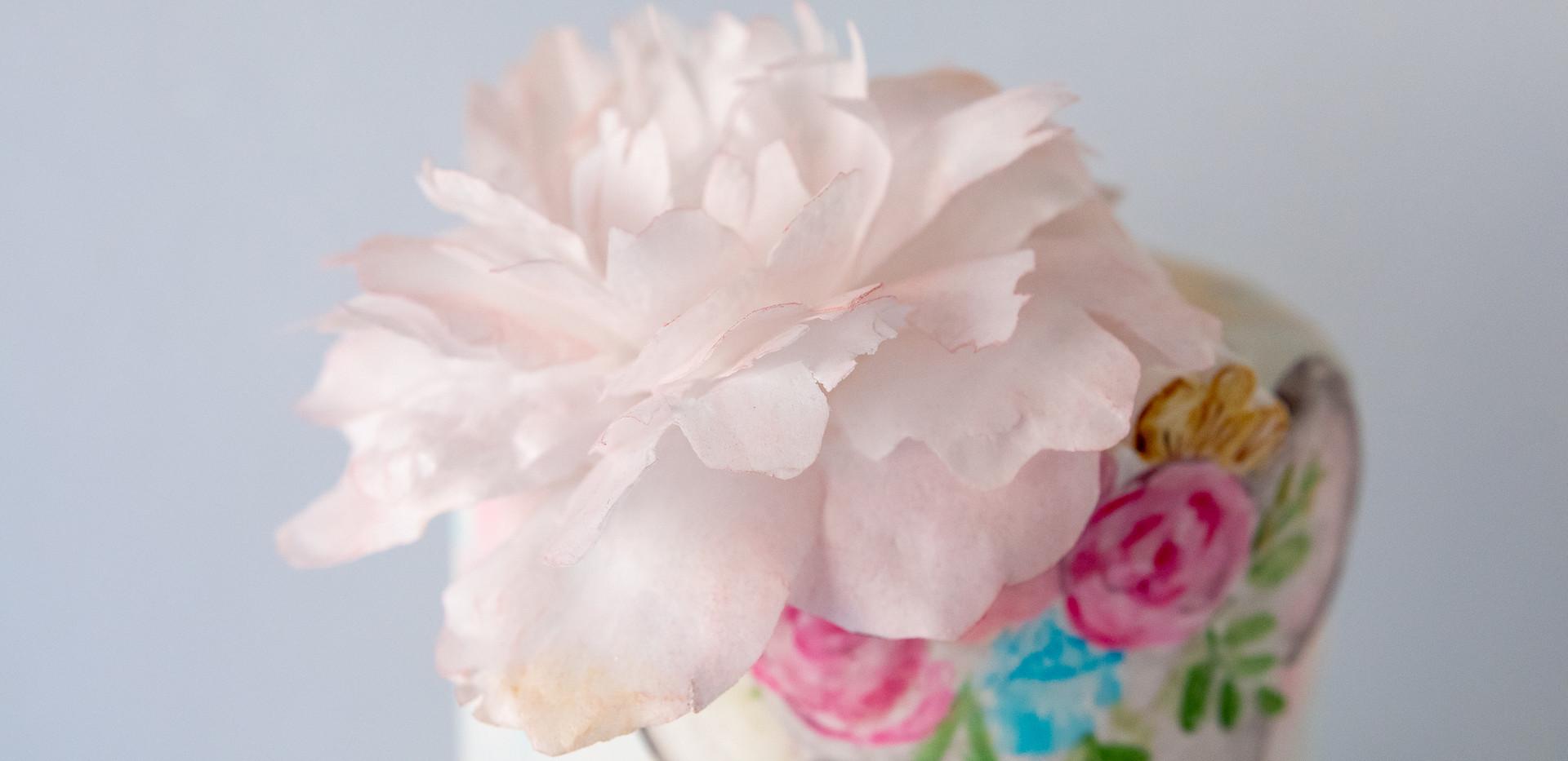 פרח פאוני מנייר אכיל