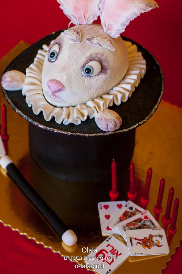 עוגת ארנב בתוך הכובע