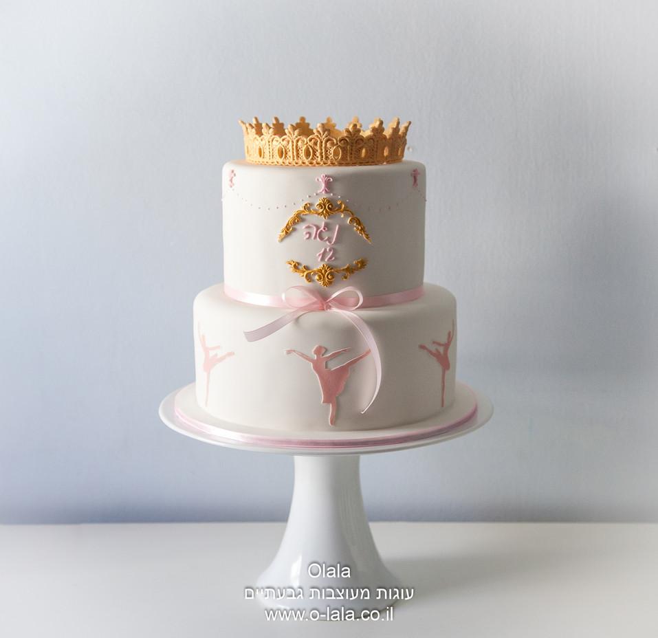 עוגת בת מצווה לבלרינה