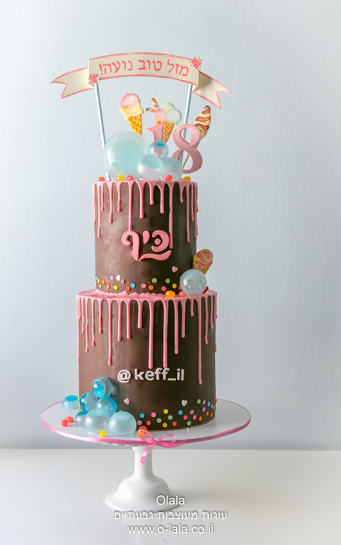 עוגה ליום הולדת 18 של נועה קירל