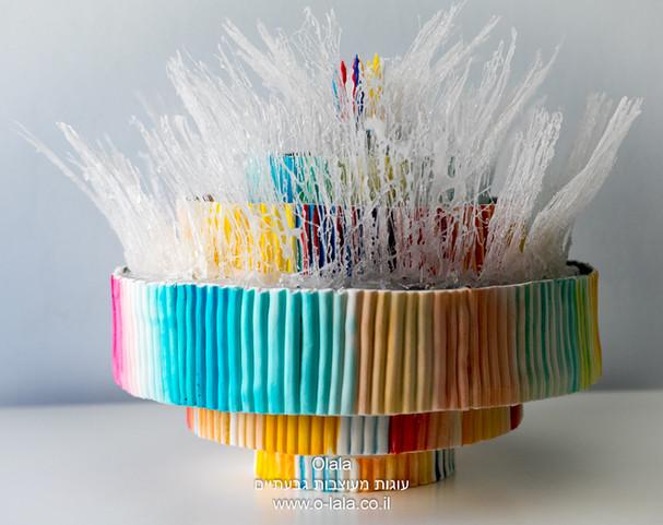 עוגת מזרקה מכיכר דיזנגוף