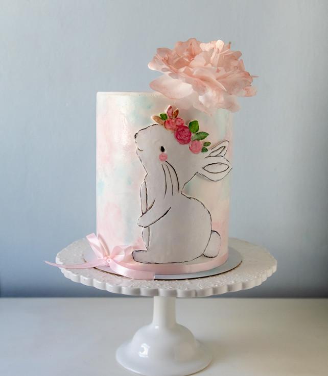 העוגה שהוכנה בסדנה על ידי סמדר שחר