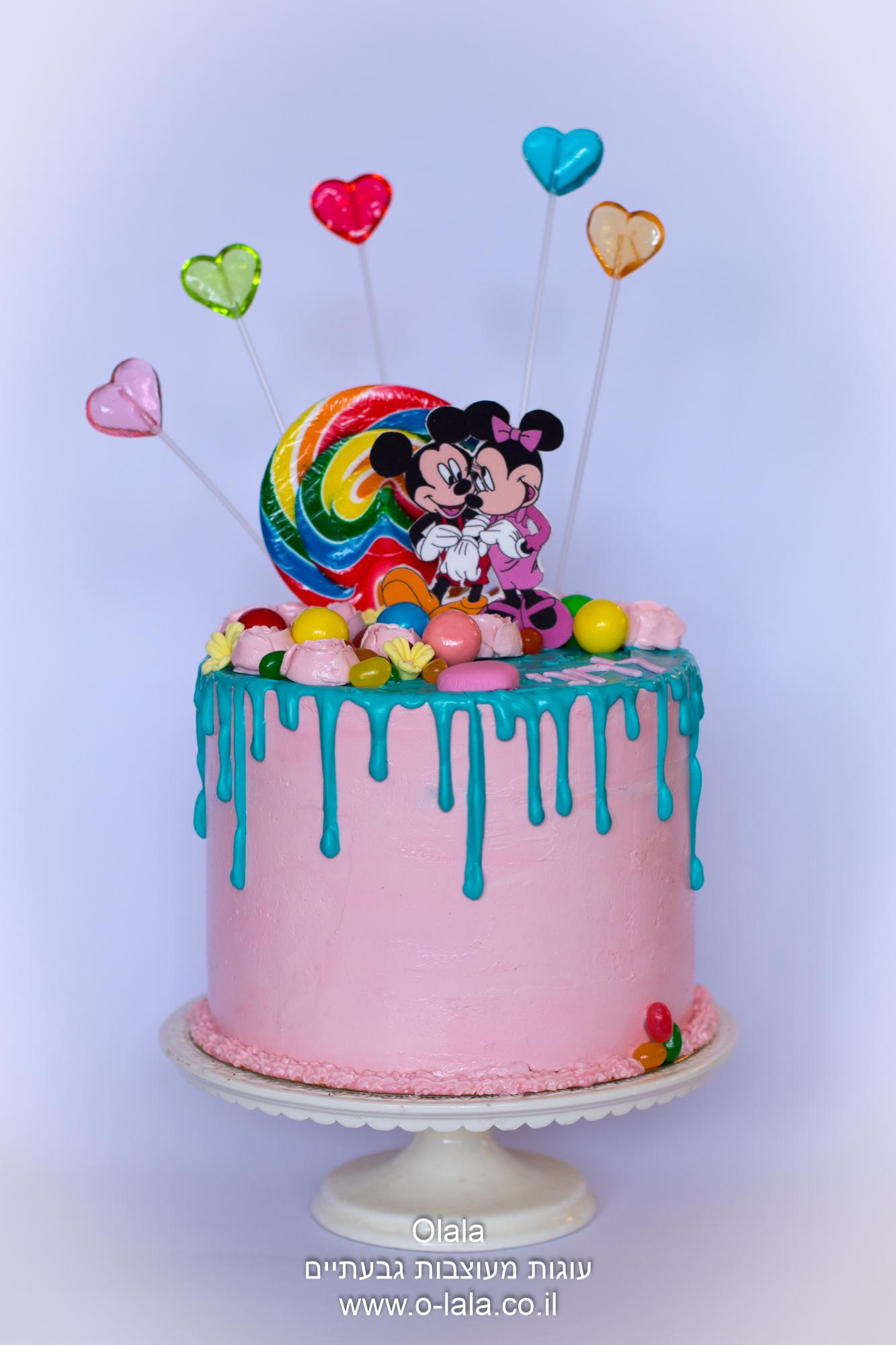 עוגת סוכריות עם טפטופים