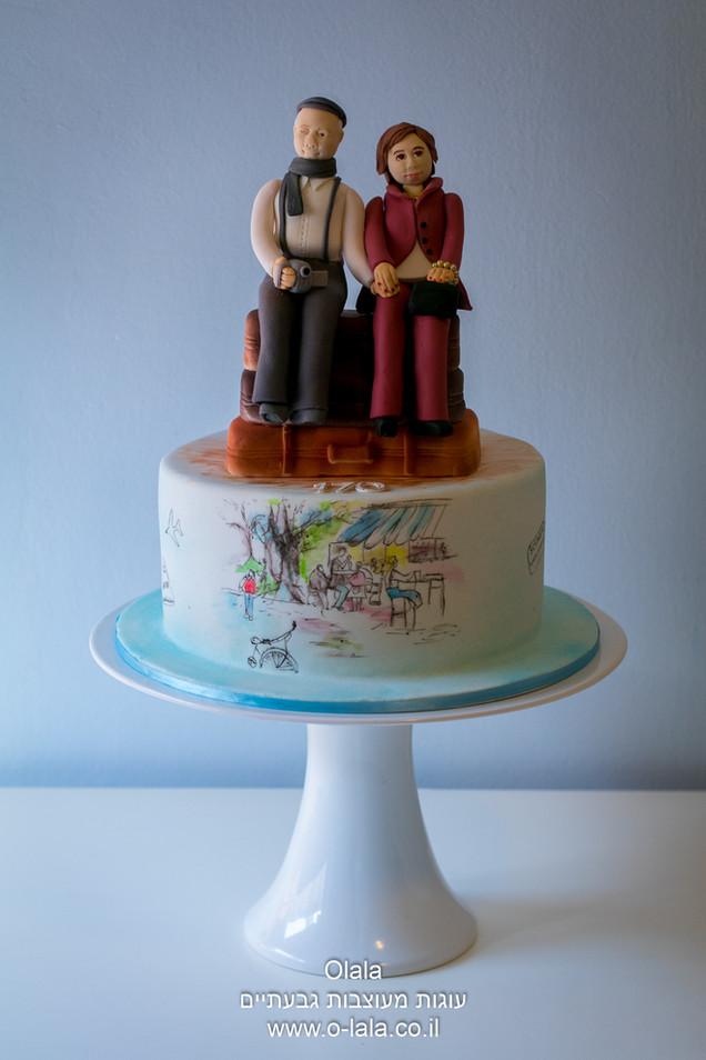עוגת יום הולדת לזוג מאוהב