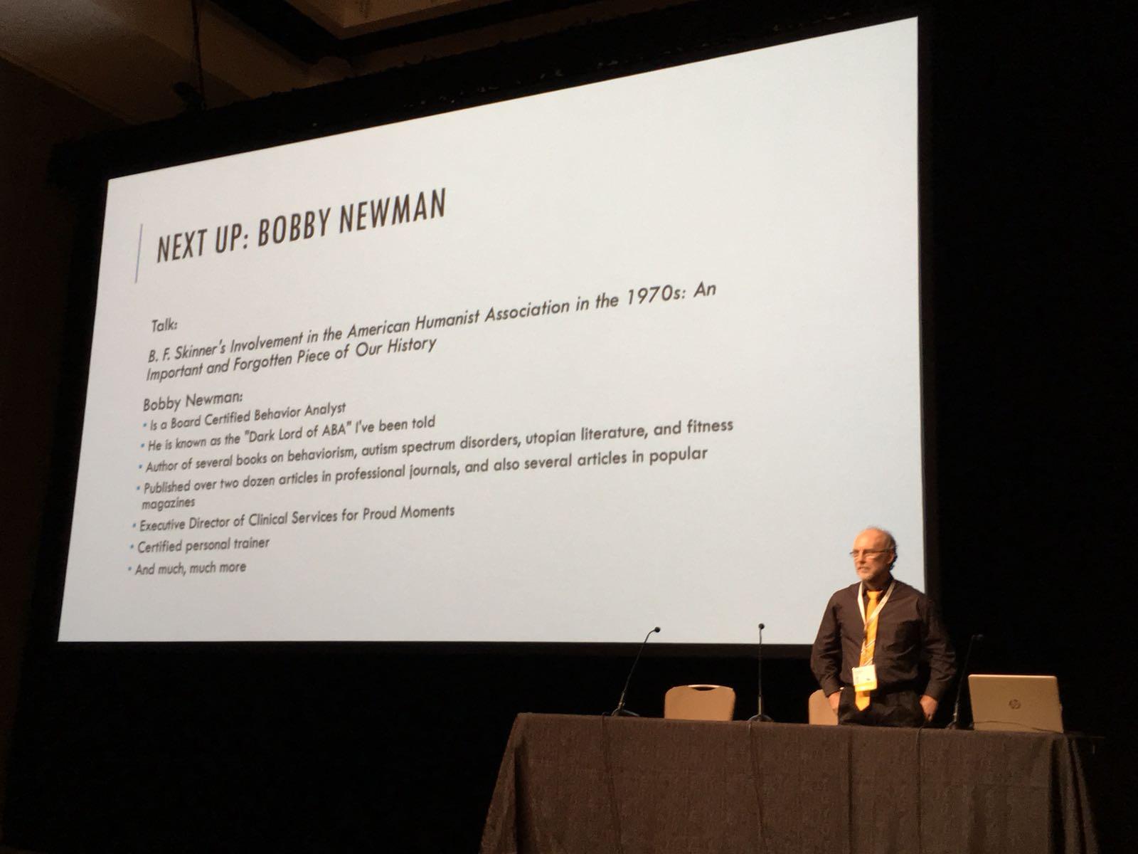 Dr Bobby Newman at ABAI San Diego