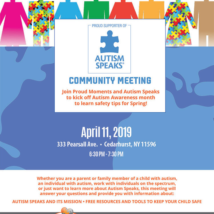 Autism Speaks and Proud Moments Community Meeting