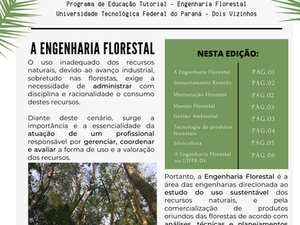 PET NEWS - A Engenharia Florestal