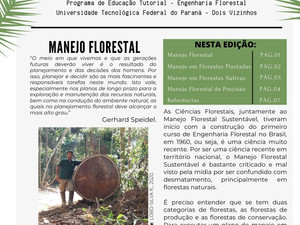 PET NEWS de Outubro/2020 - Manejo Florestal