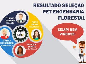 Resultado Seleção PET-Engenharia Florestal