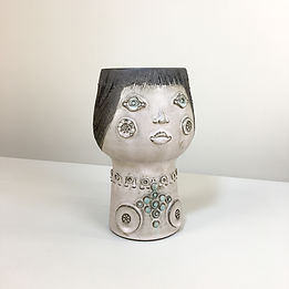 phorme vase anthropomorphe ceramique mid-century vintage