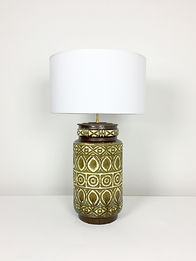 phorme lampe scheurich west germany ceramique vintage