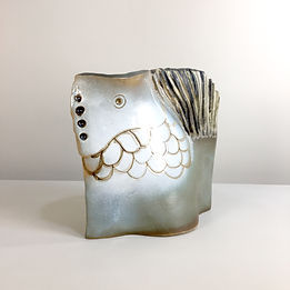 phorme vase zoomorphe ceramique vintage albert Motis
