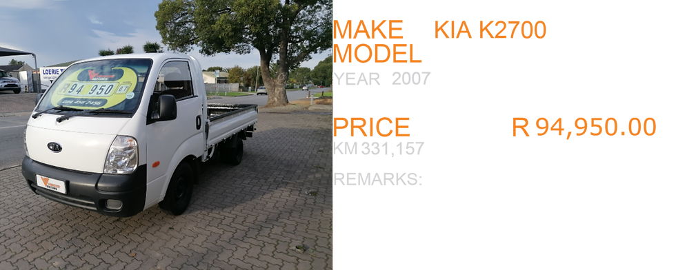 2007 KIA K2700  - KM331,157