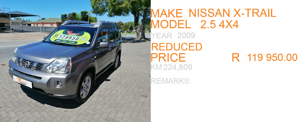 2009 NISSAN XTRAIL 2.5 4X4 - KM224,809