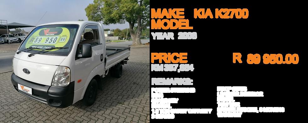 2006 KIA K2700  - KM387,854